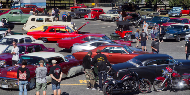 Car show of traditional and radical hot rods. Photo/Ben Fraser