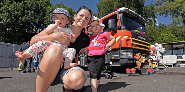 Loading Tauranga mum Fiona Torr with Georgia, 3, and Ella Torr, 11 months got to enjoy the fire trucks and helicopter on offer at the TECT Trustpower Rescue Helicopter open day. Photo/George Novak