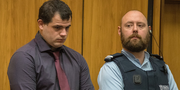 Troy Kevin Taylor, 23, ex-partner of Ihaka's mother Mikala Stokes, appearing in the Christchurch High Court.