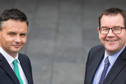 Green Party co-leader James Shaw, left, and Labour Party finance spokesperson Grant Robertson. Photo / NZME