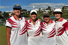 TOP CLASS: Tauranga South's national championship winning fours team, left to right, Sue Hodges, Robyn Davis, Margaret Reed, and Jenny Welch. PHOTO: SUPPLIED