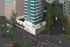 An artist's impression of the Four Points by Sheraton hotel planned for Queen St, Auckland.