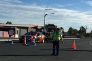 Police roadblock in Morrinsville after the fatal train crash near the Waikato township of Morrinsville. Photo / Alan Gibson