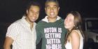 Cruz and Temson Junior Simeki with Leonie Hafke. Photo / Givealittle
