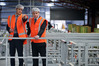 EastPack CEO Hamish Simson (left) with Prime Minister Bill English at the newly opened kiwifruit grading and sorting line at EastPack's Washer Rd site in Te Puke. PHOTO/ANDREW WARNER