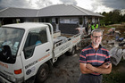 Bricklayer Gareth Whitley needs more skilled brickies to keep up with demand. Photo / Andrew Warner