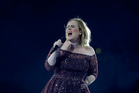 Adele belts out a song at Mt Smart Stadium. Photo / Phil Walter/ Getty Images