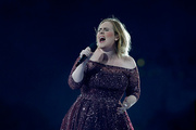 Adele performing at Mt Smart Stadium. Photo / Getty Images