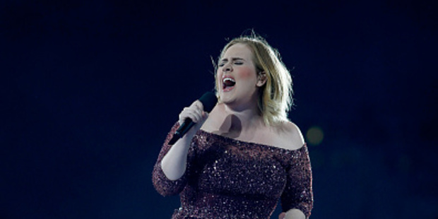 Loading Adele belting it out at Mt Smart Stadium on Thursday. Photo / Phil Walter/ Getty Images