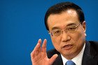 Chinese Premier Li Keqiang speaking during a press conference in Beijing. Photo / AP