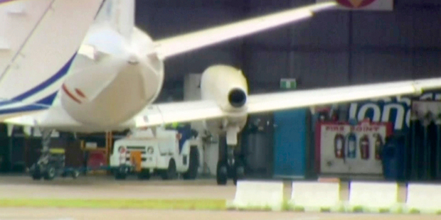 The missing propeller, which fell off over Sydney's southwest fringe, has yet to be found. Photo / AP
