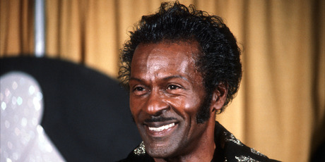 American singer and guitarist Chuck Berry, pictured at the 1984 Grammy Awards. Photo / AP