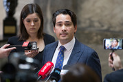Transport Minister Simon Bridges announced this afternoon that work will soon begin on protecting the route for a mass transit corridor between the city and the airport. Photo / Mark Mitchell