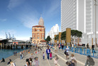 A proposed concept plan for the ferry basin between Captain Cook and Princes wharves to create more public space.