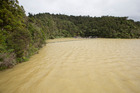 Watercare's Hunua dam is full of silt after heavy rain this month.