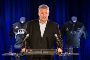 NZR chief executive Steve Tew releases the All Blacks Experience to New Zealand media 2015. Photo/Nick Reed