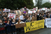 Protesters rally against rape culture at Parliament earlier this month. Photo / Mark Mitchell