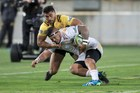 Vince Aso is the unlikely leading Super Rugby tryscorer in 2017. Photo / File