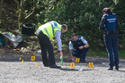Police investigate the scene on Paradise Valley Rd last October. Photo/File