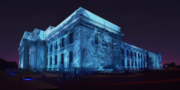 Auckland War Memorial Museum is turning an icy shade of blue and white for three nights.