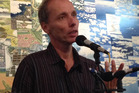 Author Nicky Hager addresses an audience in Waikanae in 2015.