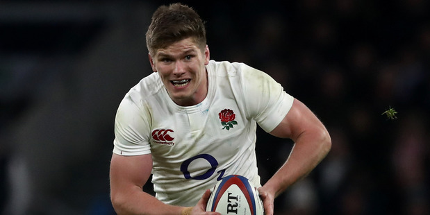 Owen Farrell of England runs with the ball during the Six Nations match against France. Photo/Getty Images