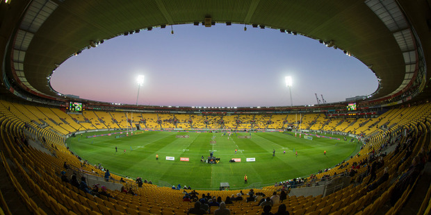 The first day of this year's Wellington Sevens saw Westpac Stadium virtually empty. Photo: John Cowpland / www.photosport.nz