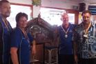 The winning Geyserland Darts Association team from left, Brian Corbett, Sandra Corbett, Dave Webb and Herbie Nathan. Photo/Supplied