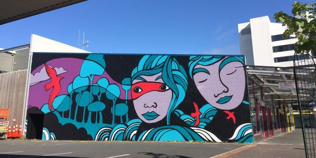 Street art like this piece that was created as part of the Boon Hamilton Street Art Festival in 2015 will adorn Tauranga walls in the near future. Photo/file