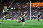 Australia's Billy Slater scores a try in the Rugby League World Cup Final in 2013. Photo / Photosport