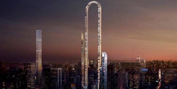 A rendering of The Big Bend skyscraper. Photo / Oiio Studio