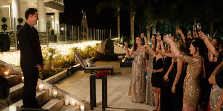 The Bachelor fronted up to the 19 women to cull them down to 16. Photo / Supplied