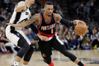 Portland Trail Blazers guard Damian Lillard in action against the Spurs. Photo / AP