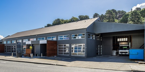 The industrial and showroom property at 69 Pharazyn St, Lower Hutt. Photo / Supplied
