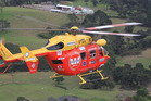 The boy fell from a significant height and was taken to Waikato Hospital by Waikato Westpac Rescue Helicopter. Photo / Supplied