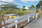 Fencing of a section of asbestos-contaminated soil at Hobsonville Primary School taken by a parent in February. Photo/Natalie Marsh