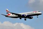 A British Airways Embraer 190SR. Photo / Liam McManus