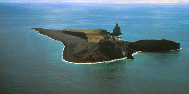 Bogoslof volcano is nestled in the Aleutian Islands about 98km northwest of Dutch Harbor, Alaska, US. Photo / AP