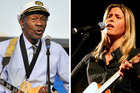 Monique Rhodes says it was an honour to perform with the legend, Chuck Berry. Photos / AP, Supplied