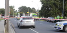 The scene where a man was hit by a car. Photo/Andrew Warner
