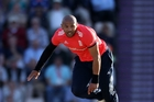 Fast bowler Tymal Mills has gone from a crock to a millionaire. Photo / photosport