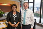 Deputy Prime Minister Paula Bennett and Prime Minister Bill English. Photo / Mark Mitchell