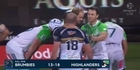 Watch: Watch: Highlanders battle to beat Brumbies