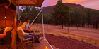 Ikara Safari Camp at Wilpena Pound, in South Australia.