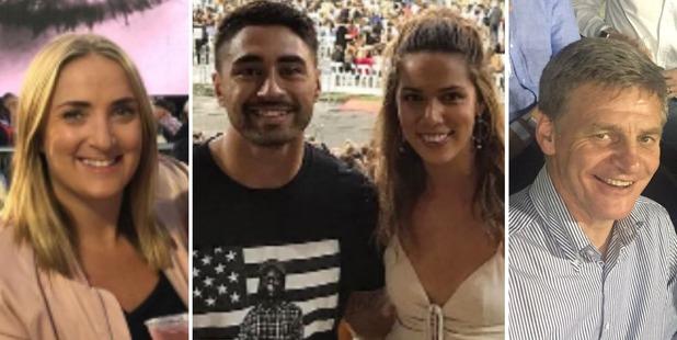 Kiwi celebs enjoying Adele's first NZ show.