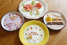 Yoghurt art is the latest craze in Japan. Photo / Japan News-Yomiuri