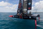 Oracle Team USA in training off Bermuda. Photo/Sam Greenfield