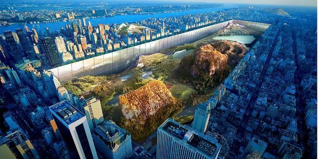 """A rendering of the New York Horizon - a proposed """"side-scraper"""". Photo / Evolo"""
