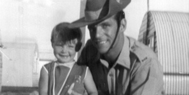 Cheryl Grimmer, pictured with her father John, was just 3 when she disappeared. Photo / NSW Police