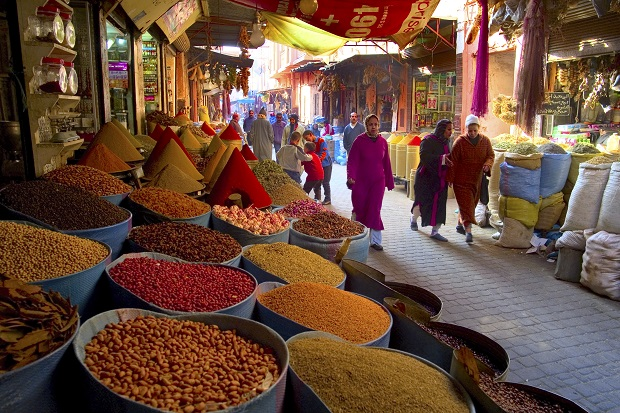 Spices at a souk in Marrakesh, Morocco. Photo / Getty Images